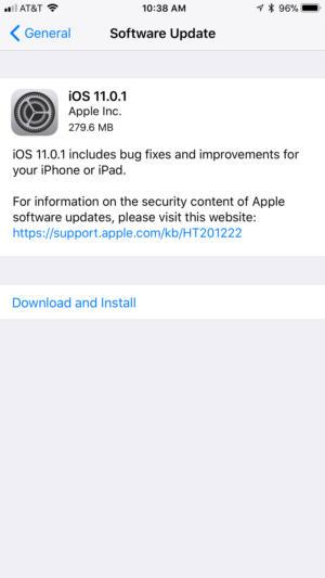 ios11.0.1