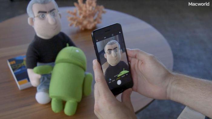 iPhone 7 Plus Portrait Mode interface