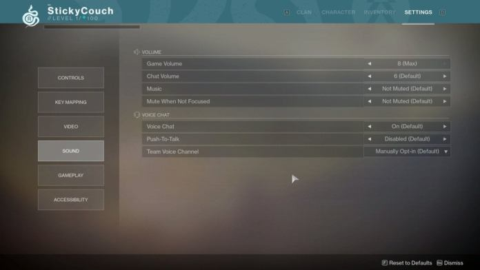 destiny 2 sound