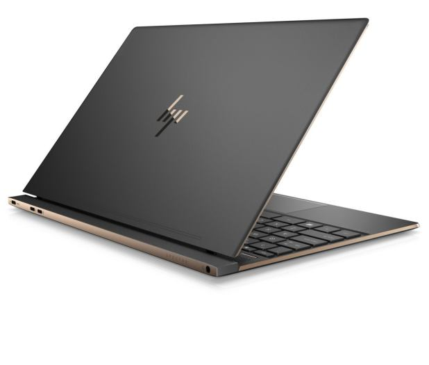 hp spectre 13 laptop rear quarter right dark ash silver