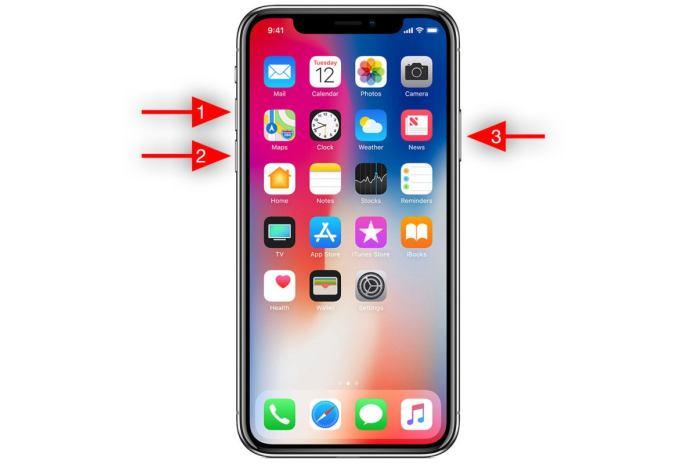 how to iphone x power off