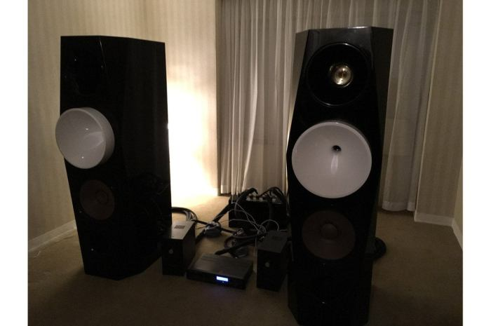 The six-foot tall, 1,000-pound Orinda Acoustics speakers cost $238,000/pair.