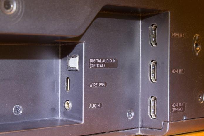 Samsung HW-MS750 inputs