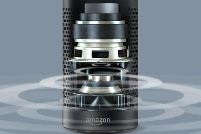 Amazon Echo Plus speaker cutaway