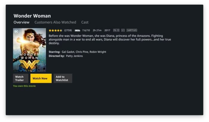 amazon prime video apple tv 4