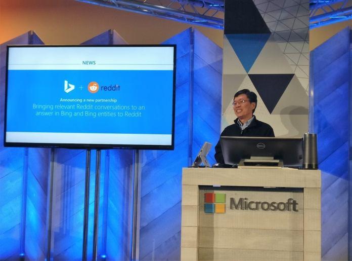 Microsoft Harry Shum Redit Bing