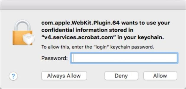mac911 adobe keychain request