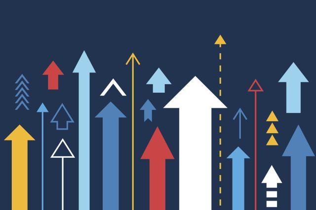 Arrows Showing Upward Trend Growth Chart Graph