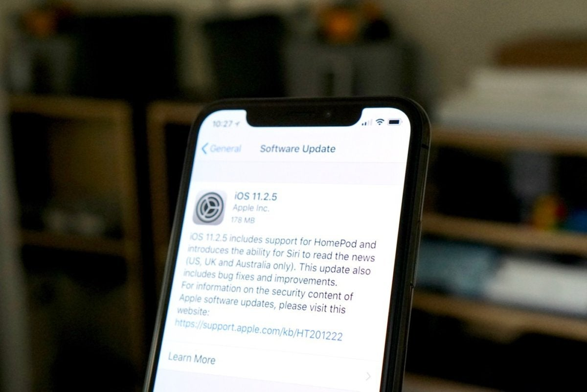 Apple releases iOS 11 2 5 with HomePod support  Siri News  and bug     Apple releases iOS 11 2 5 with HomePod support  Siri News  and bug fixes    Macworld