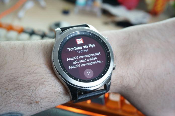 Samsung gear notification