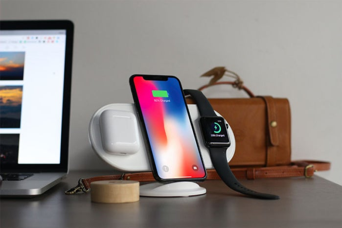 The Plux triple pad wireless charger