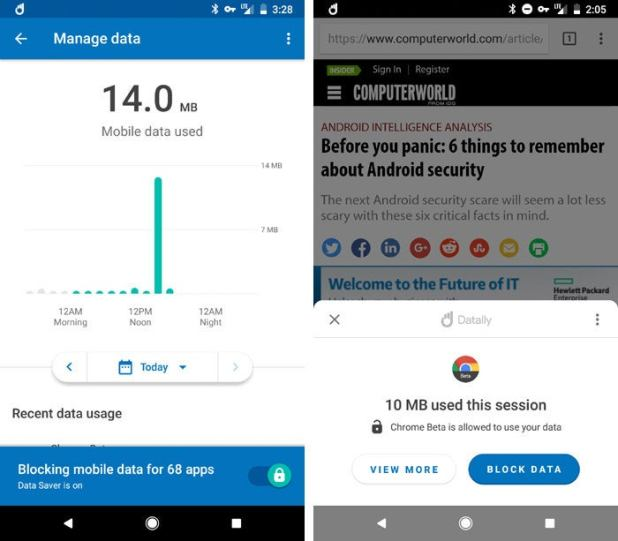 Android data Datally