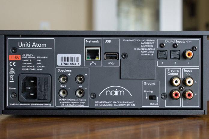 Naim Uniti Atom rear panel