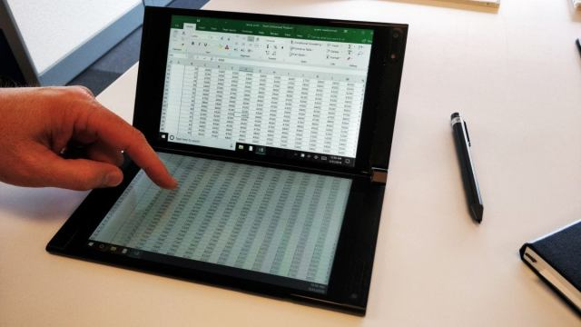 Intel one giant screen excel