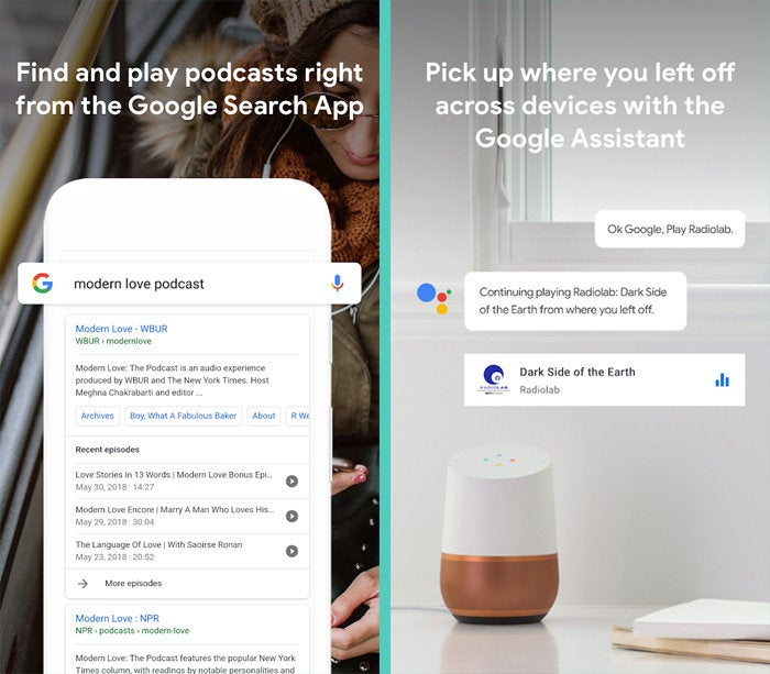 Google Podcasts, Assistant