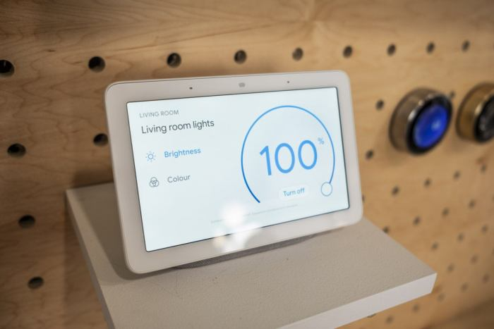 google home hub lights