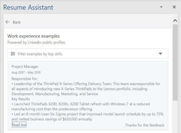 word resume assistant example 2