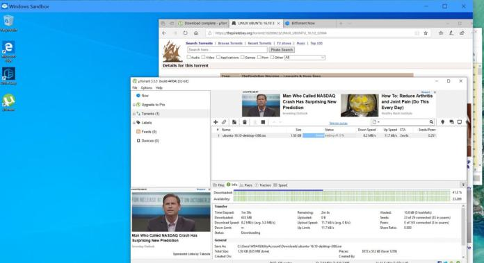 windows sandbox bittorrent ubuntu