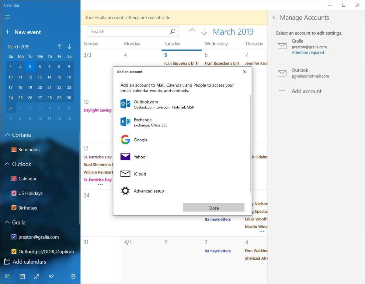 win10 cortana add calendar