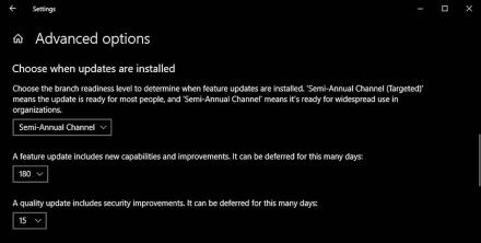 1809 feature update 180 days