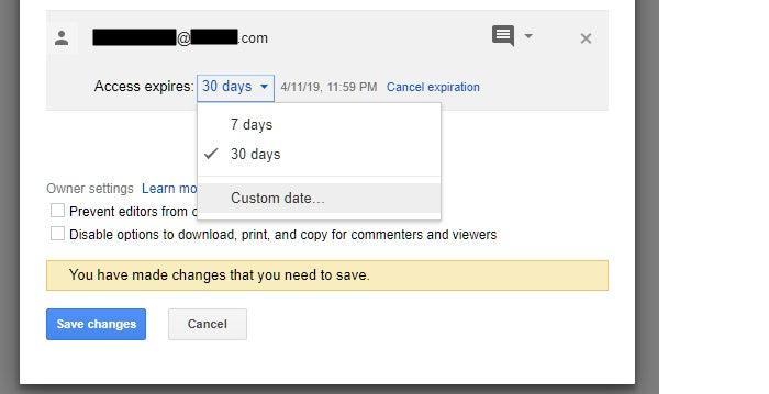 google drive collaboration share file set expiration 2