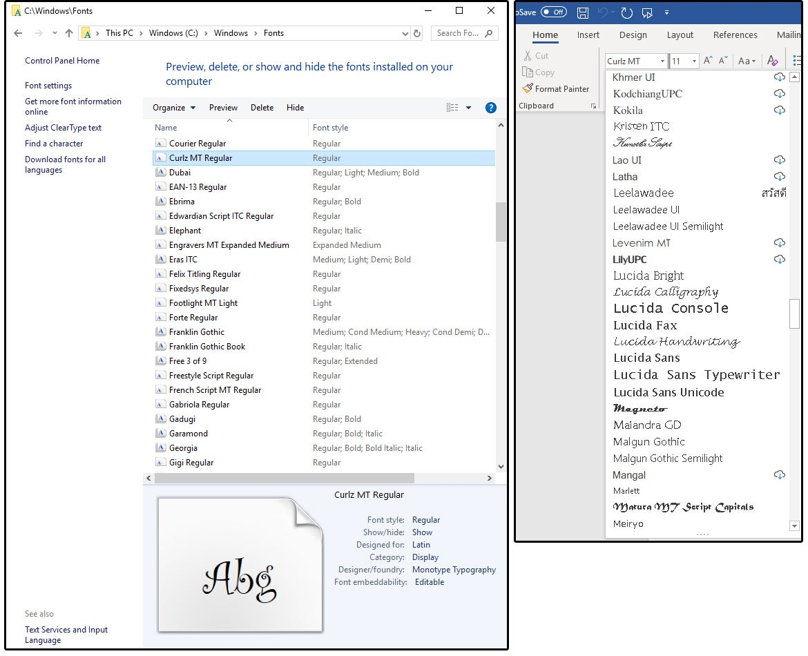 How To Work With Microsoft Word S Cursive Script Or