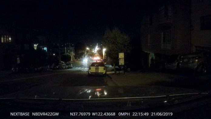 422gw front view camera night