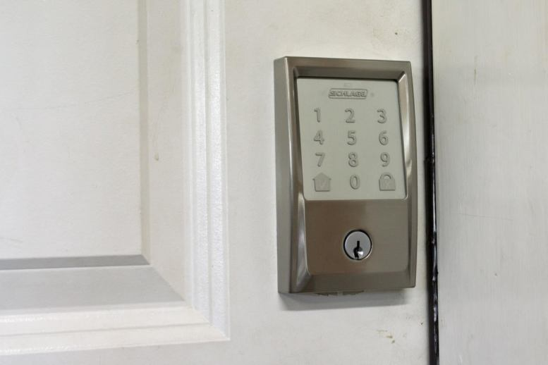 schlage encode installed no backlight
