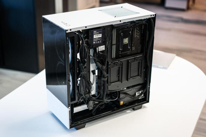 NZXT H510 Elite cable view
