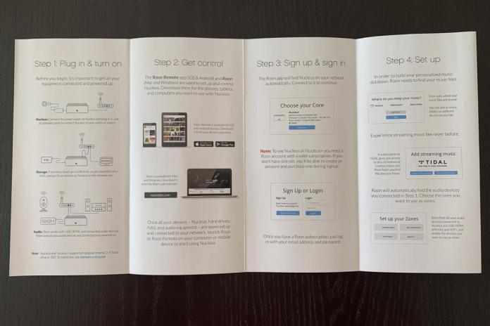 The Nucleus includes an easy step-by-step quick start guide