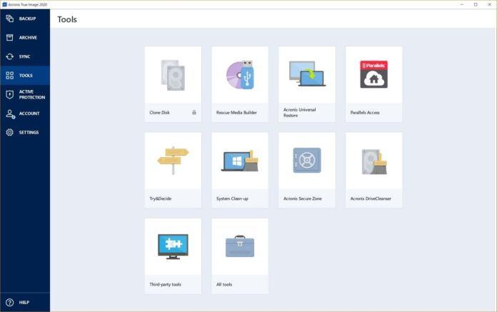 acronis 2020 tools
