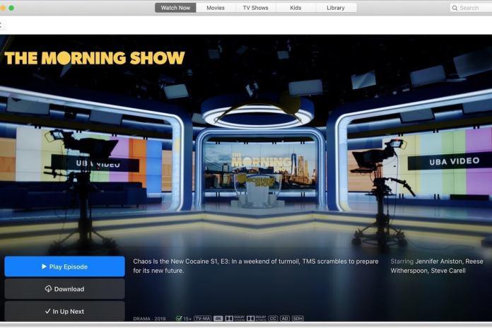 Apple TV+ user interface