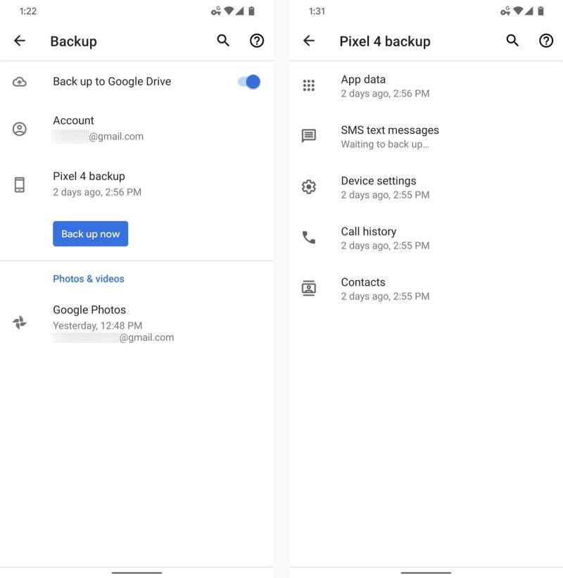 backup android phone settings