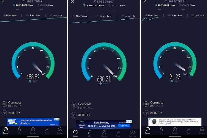 wifi 6 speed tests