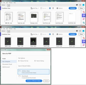 003 combine files and save as pdf