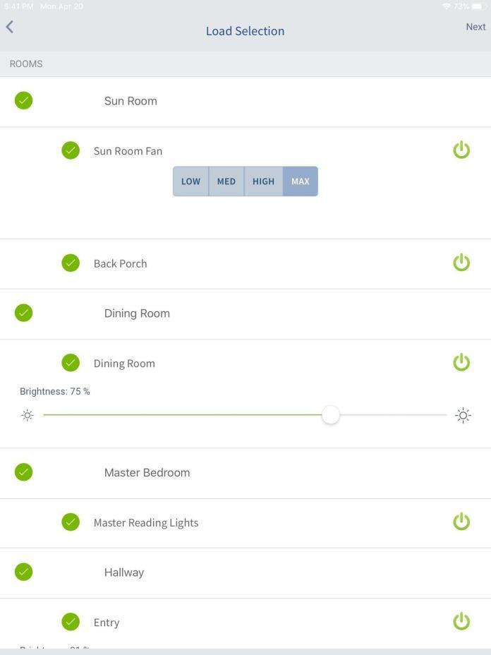 4 button controller selection menu