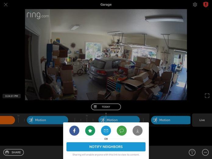 ring indoor cam clip sharing