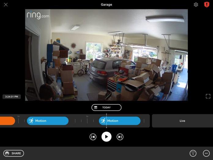 ring indoor cam live view