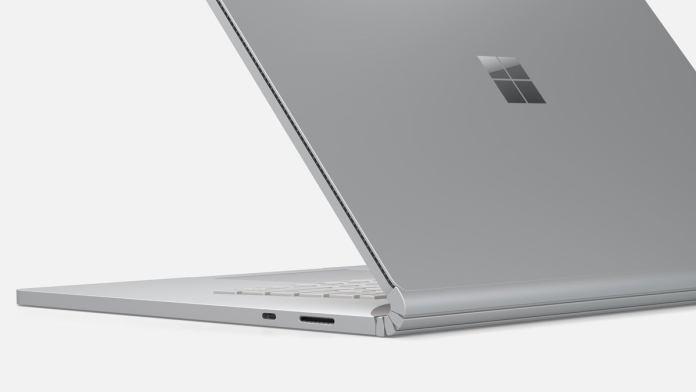 Microsoft surface book 3 rear shot