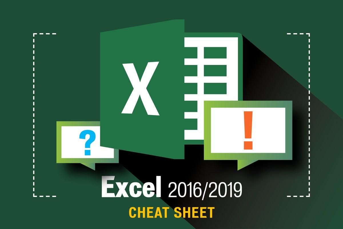 Excel 2016 and 2019 cheat sheet | Computerworld