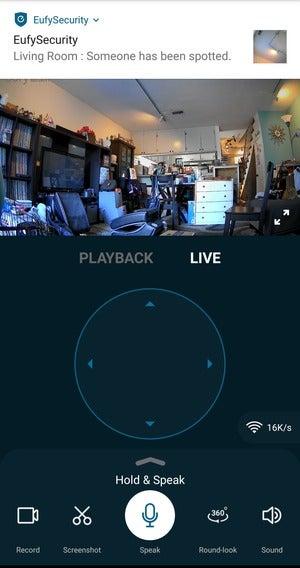 eufy app live