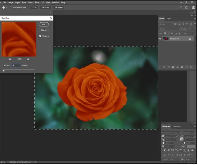 03 используйте размытие коробки для фотошопа, чтобы создать мягкий шелковистый эффект со светящимися краями