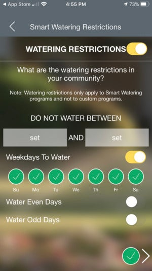 b hyve xr water restrict