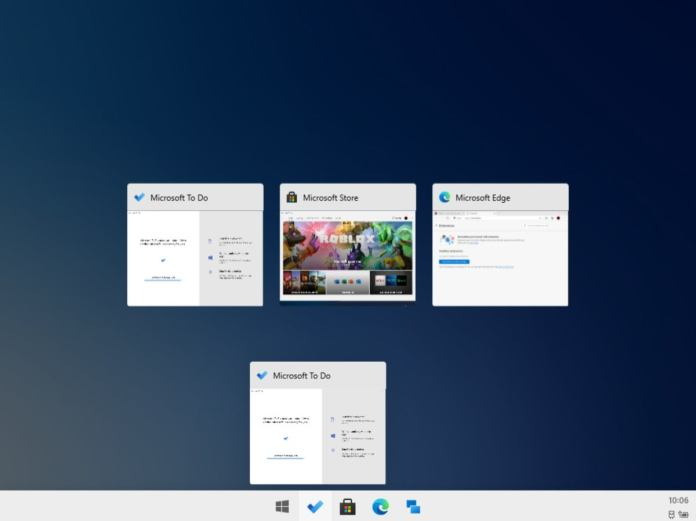 Microsoft Windows 10X task view