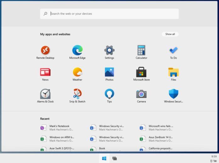 Microsoft Windows 10X windows 10x start