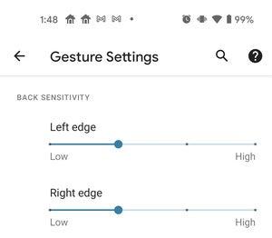 android 11 rear sensitivity