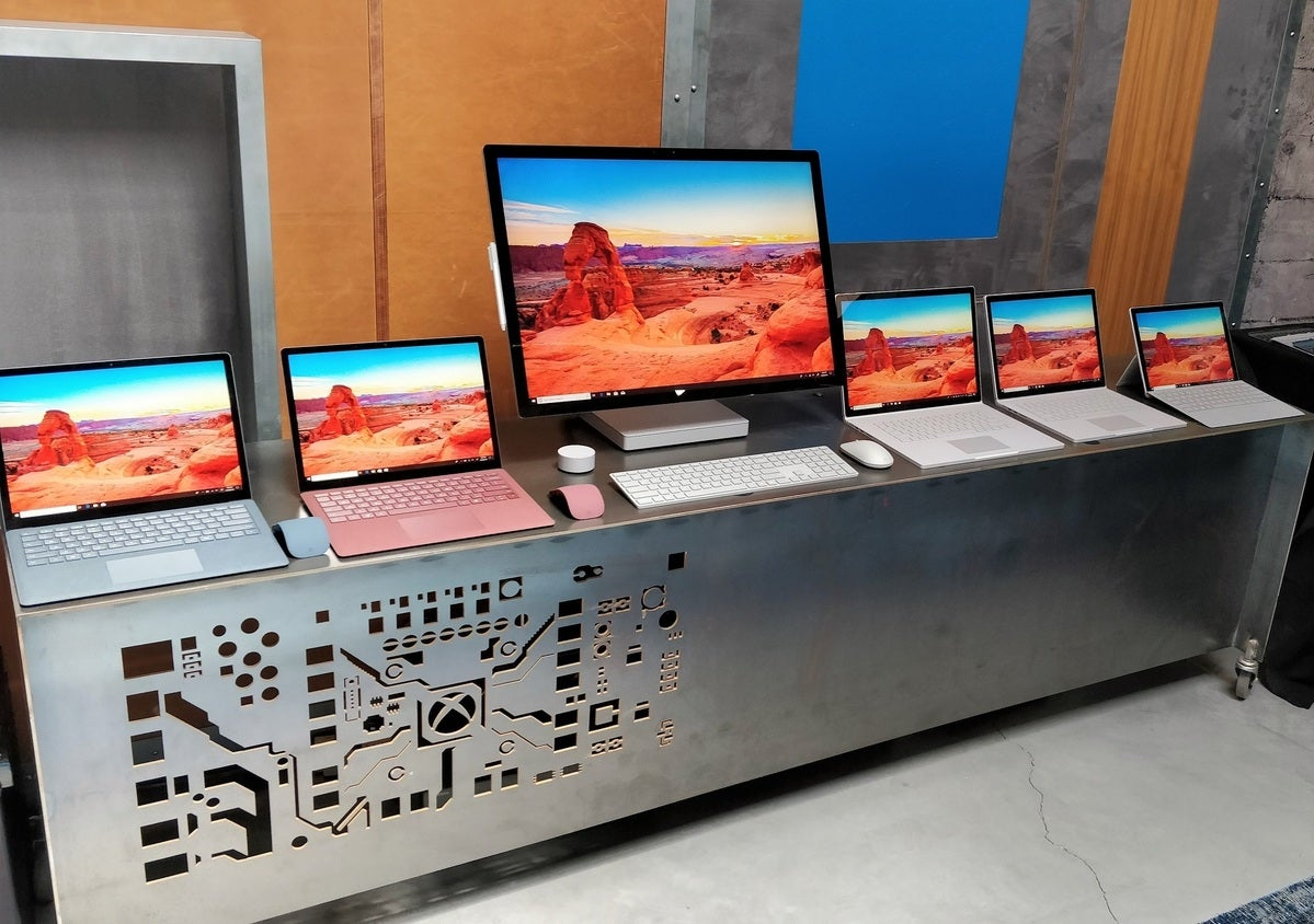 Microsoft Surface devices lineup