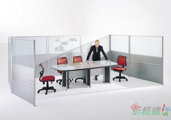 辦公屏風內嵌白板討論區