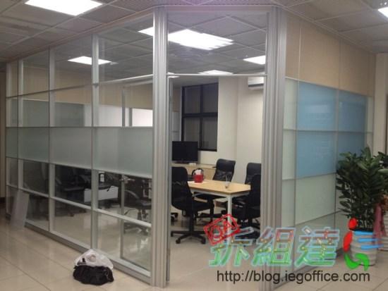 辦公室裝修,辦公室裝潢,雙層玻璃高隔間