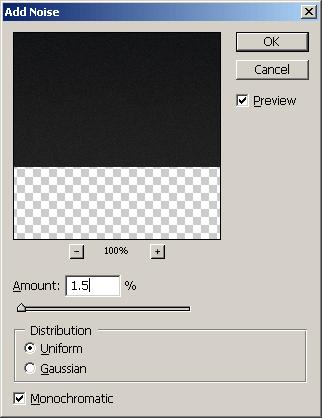 Noise Settings - Photoshop Tutorial